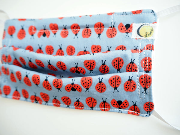 Reusable ADULT Face mask - Lady Bugs