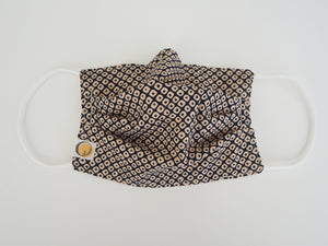 Reusable ADULT Face mask - Shibori Konoko dots