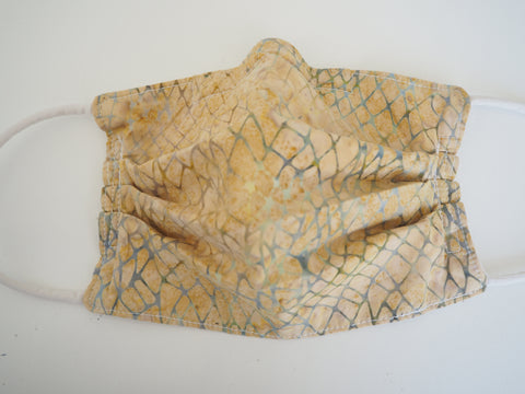 Reusable ADULT Face mask - Sand and Sea Batik