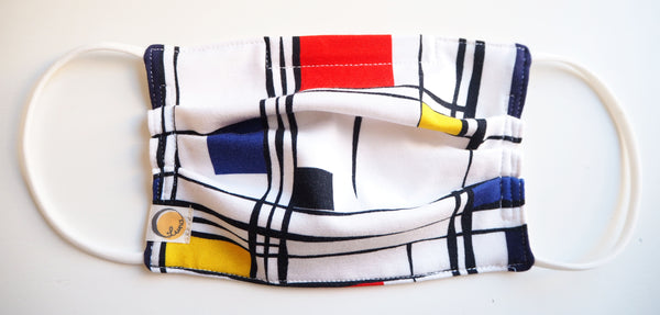 Reusable CHILD Face mask - Mondriaan