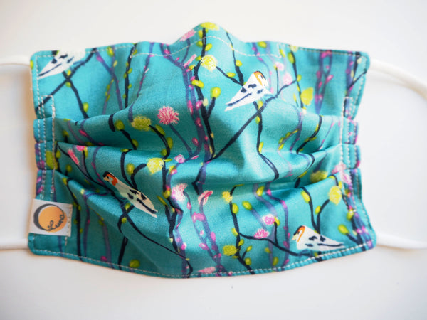Reusable CHILD Face mask - Birds and Blossom