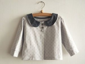 Organic Punch Card Cardigan
