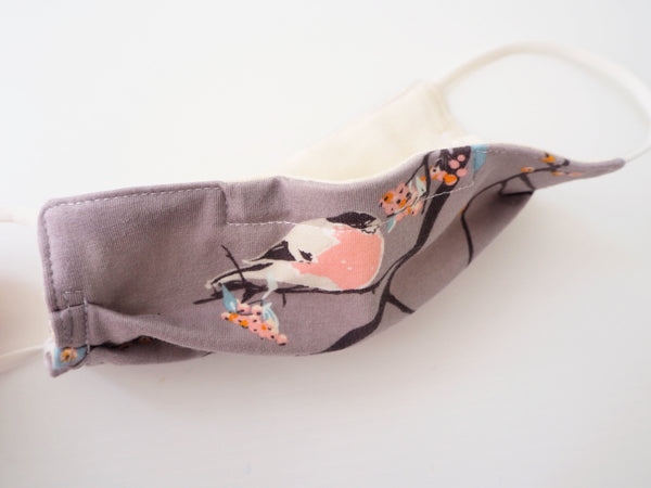 Reusable CHILD Face mask - Birds and Branches