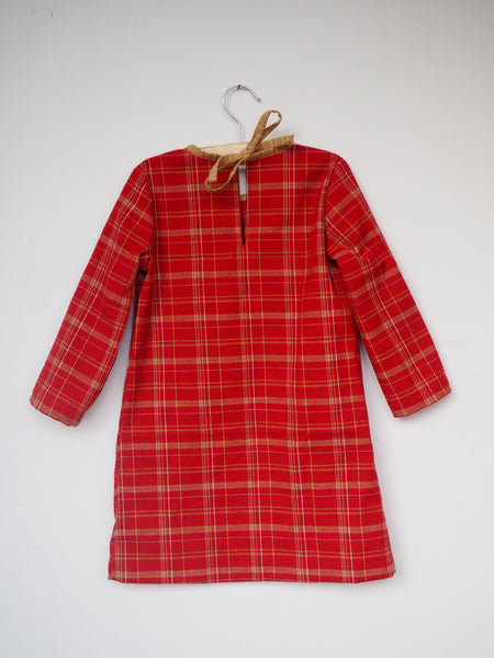 The Adi Dress * Christmas Dress in Japanese checkered cotton