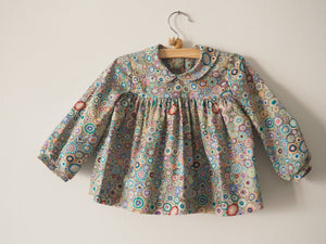 Candy blouse with colorful flowerforms ~ Sludge