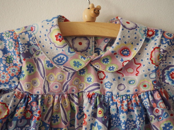 Candy blouse with colorful flowerforms ~ Pastel