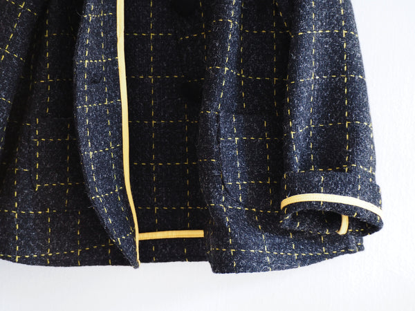Yellow Check coat