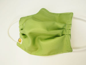 Reusable ADULT face mask -  SILK apple green mask