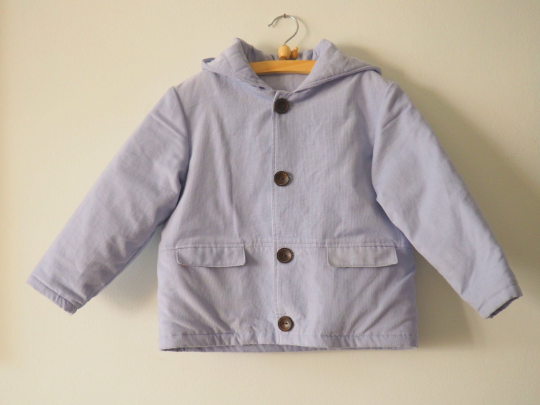 Hand Quilted Corduroy Coat ~ organic cotton batting