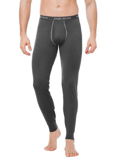 David Archy® Men's Thermal Underwear Pants 2 Pack