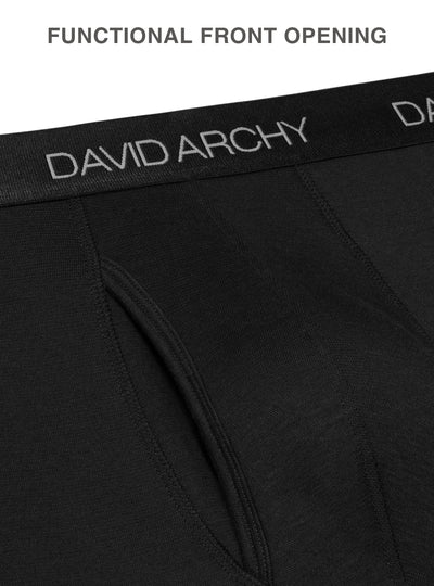 David Archy® Men's Thermal Underwear Pants with Fly 2 Pack