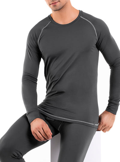 David Archy® Men's Quick Dry Thermal Underwear Tops 2 Pack