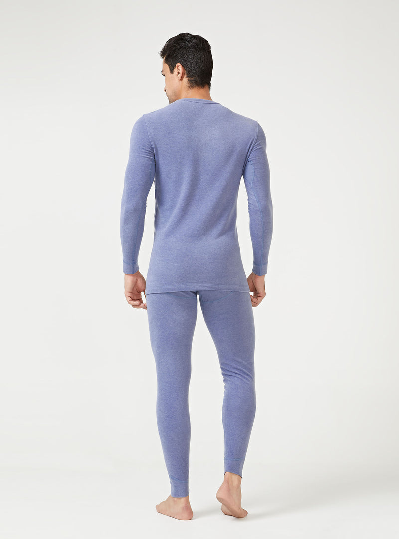 David Archy® Men's Warm Base Layers Thermal Set Winter Inner Wear Ultra Soft Brushed Fleece Lined Long Johns-Thermal-David Archy