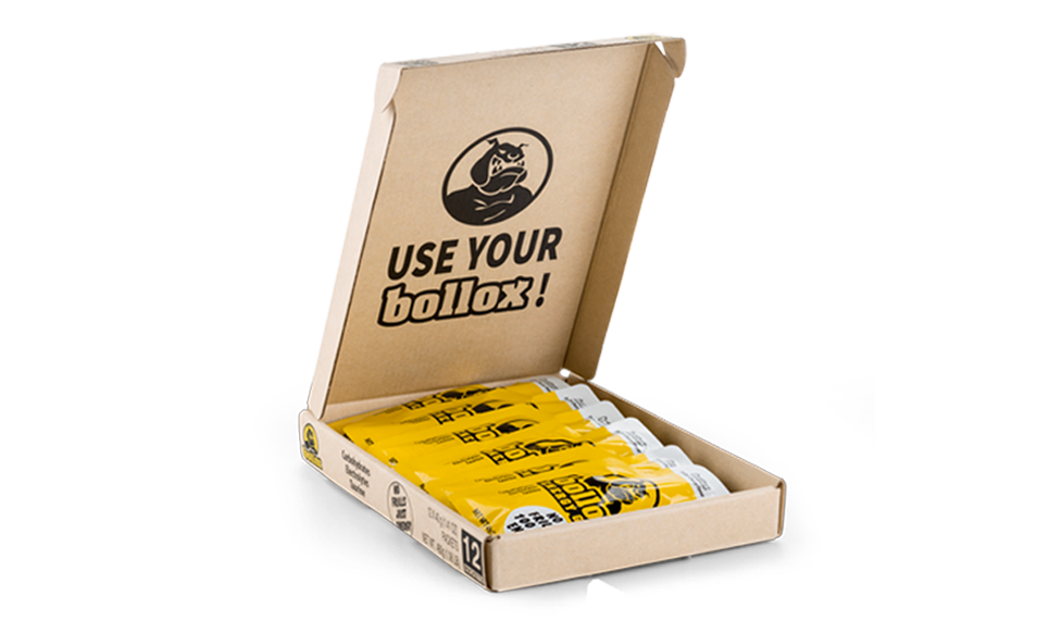 Open Bollox Energy Box and Icons about Product Highlights