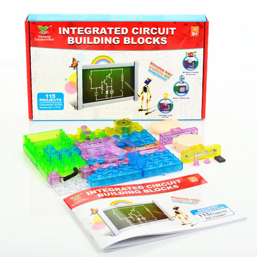 DIY Circuit Build Blocks Science Kit with 115 Projects