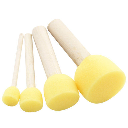Circular Paint Sponge Set - 4 pcs