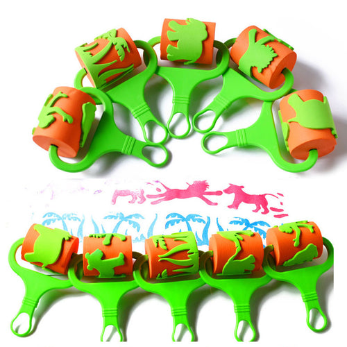 Animal Shape Paint Roller Set