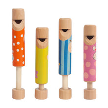 Orff Instruments 4Pcs/Lot Wooden Children's Whistles Diacritical Sliding Flute Baby Early Childhood Music Toys
