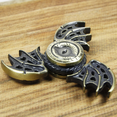 Dragon Eye Fidget Spinner Stress Release Tri Spinner Toy ADHD Focus (MB0425-YW)