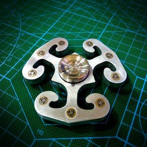 Yomaxer  Stormrage Znalloy Spinner with Mosaic Rivet ADHD Focus EDC(M17116)