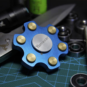 Yomaxer Revolver Fidget Spinner Ceramic Bearing With Brass Rivet Metal material EDC Toy (YM1213)