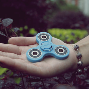 Yomaxer Tri-Spinner Fidget Toy Bearing Nylon Material New Version Blue(M17111-BE)