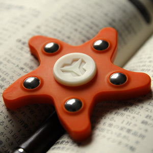 Yomaxer Silicone Gel Starfish Spinner Hand spinner ADHD Relieve Stress EDC R188 bearing Toy(YmxS6)