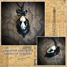 Bathory Bat Skull Cameo Necklace in a Victorian Gothic Style