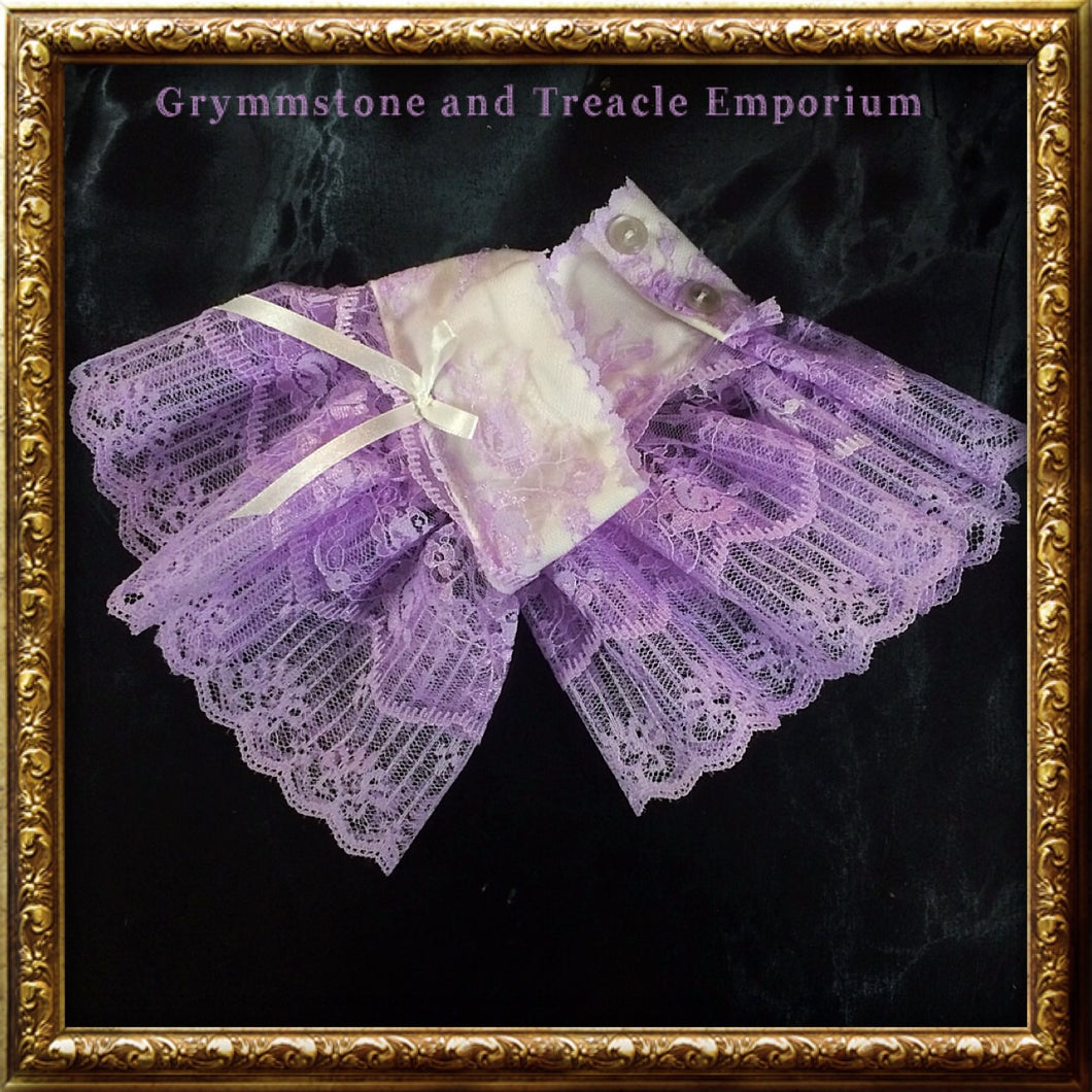 Lace Cuffs - Lilac and White