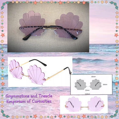 Lilac Seashell scallop sunglasses