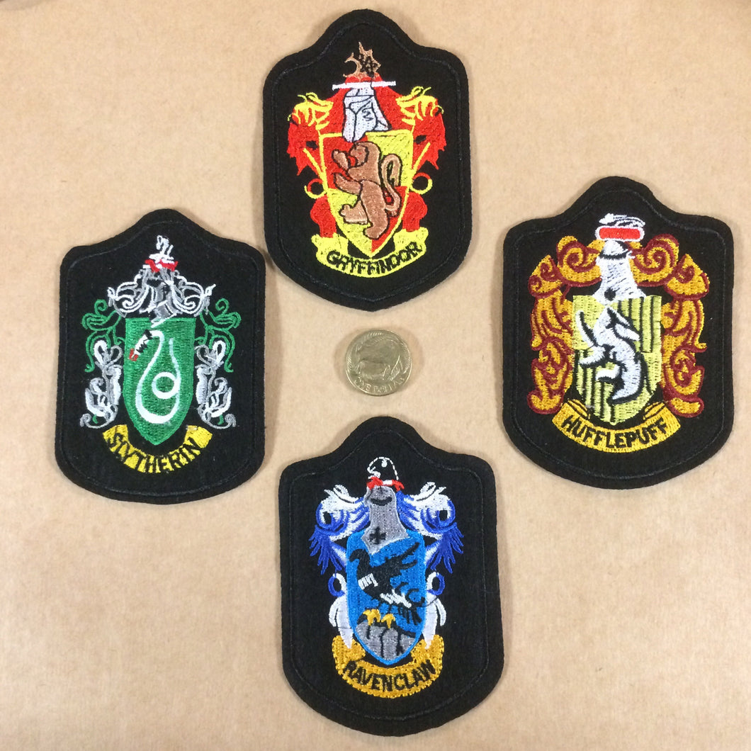 Hogwarts House Crest Patches