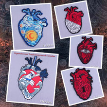 Arty Heart Embroidered Patches