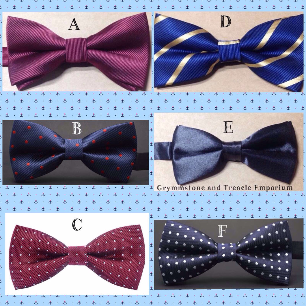 Bow Ties - Vintage Style with Polka Dots, Stripes, or in Satin for Art Deco, Steampunk, Victorian and Cosplay
