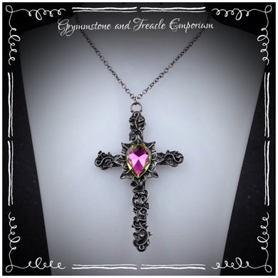 Ivy Leaf Gothic Cross Pendant