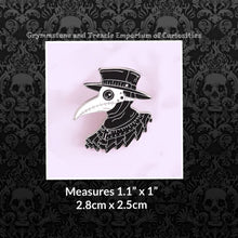 Plague Doctor Pin with White Mask and Ruffled Collar