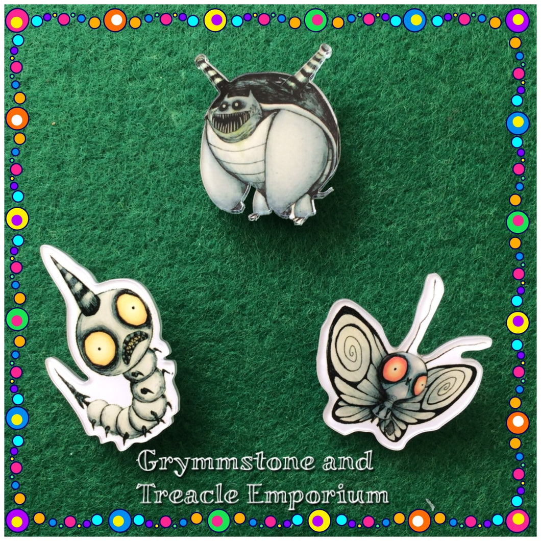 """Monster Bug"" Brooches"