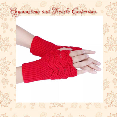 Fingerless Gloves - Scallop Pattern