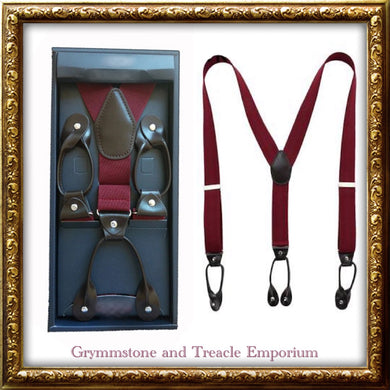 Suspenders - Vintage Style Button-On