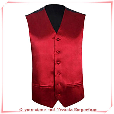 Waistcoat - Cranberry Red Satin