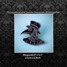 Plague Doctor Pin in Black