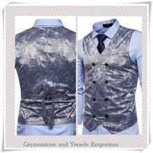 Double-Breasted Waistcoat - Slim Cut - Pewter