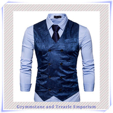 Double-Breasted Waistcoat - Slim Cut - Blue