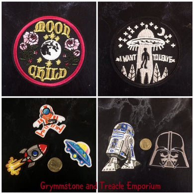 Patches - UFOs, Rockets and Spacemen vs Darth Vader and R2D2