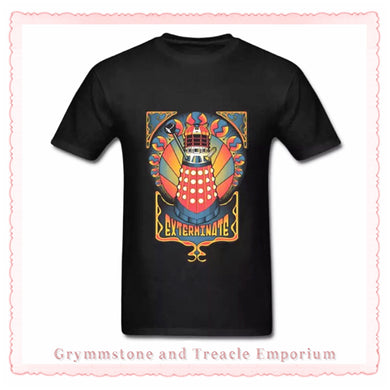 Dalek Sunrise Nouveau T-Shirt - Black