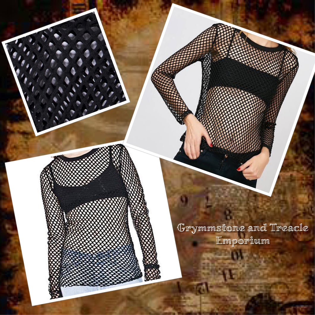 Mesh Gothic Top - 10/12
