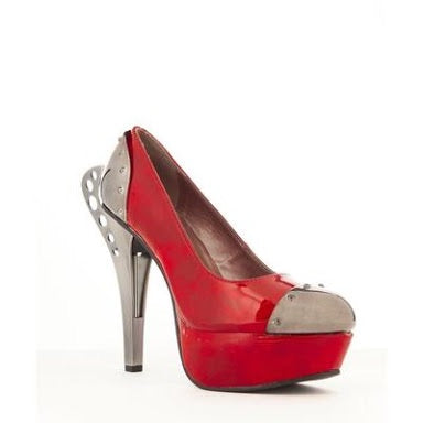 Red Tower Heels - Size 8