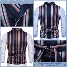 Waistcoat - Striped Double Breasted