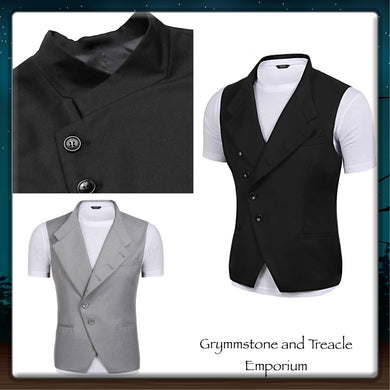 Waistcoat - High Collar Asymmetrical