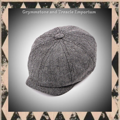 Bakerboy Cap - Herringbone Eight Panel