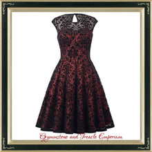Taffeta and Velvet Flocked Fifties Dress